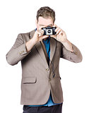 Businessman Capturing Photo