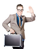 Businessman Showing Hand Holding Briefcase