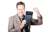 Accountant working with a calculator