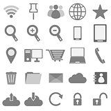 Internet icons on white background