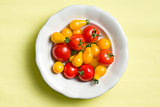 various tomatoes on plate