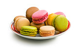 various macaroons on plate