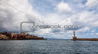 Old Venetian harbor in Chania. Crete