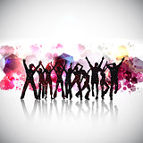 Abstract party people background