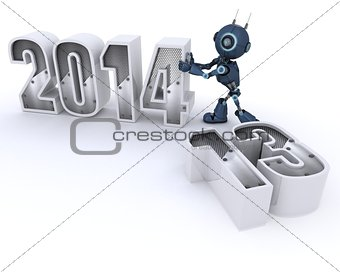 Android bringing in the new year