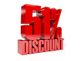 51 percent discount. Red shiny text.
