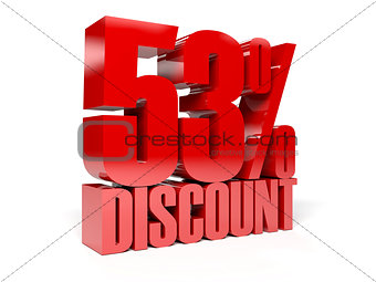 53 percent discount. Red shiny text.