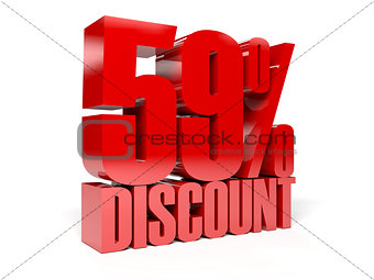 59 percent discount. Red shiny text.