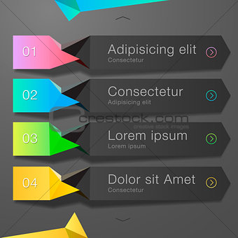 Modern spiral infographics banner, vector Eps10 illustration.
