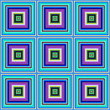 Blue pink and green color square tiles seamless illustration.