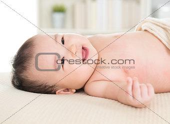 Adorable Asian baby girl