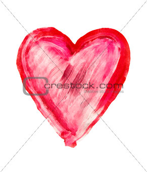 painted heart - symbol of love