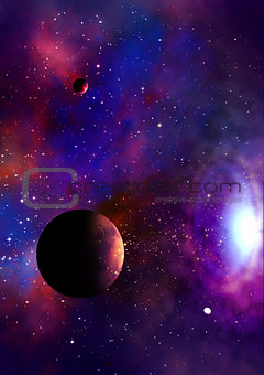 thre planets and stars