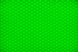 Green shiny hexagon bubble tile texture background
