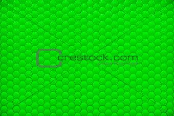 Green shiny hexagon bubble tile texture background