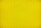 Yellow shiny hexagon bubble tile texture background