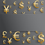 Currency symbol with space for text