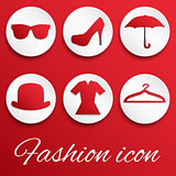 Fashion realistic red button set