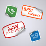 Set of colored rectangle stickers