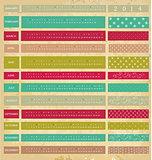 Vintage calendar for 2014 year