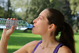 Drinking water after sports