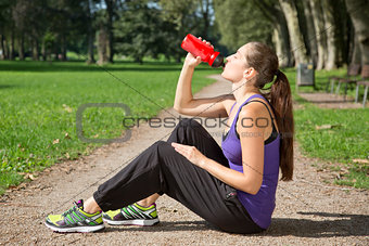 Break for drinking after sports