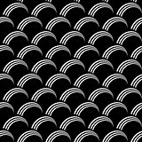 "Seamless op art pattern. ""Fish scale"" texture."