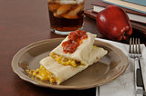 Sausage egg burrito for an after school snack