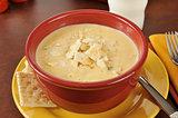 Chicken con queso soup