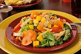 Colorful tropical salad