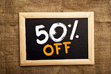 Fifty percent off