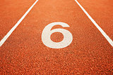 number six on running track