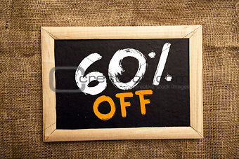 Sixty percent off