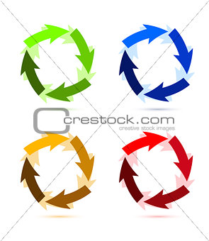 A Colourful Circular Arrow Illustration