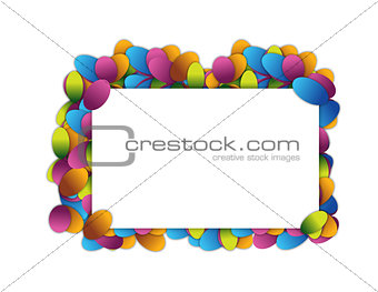 Abstract Banner illustration design over white