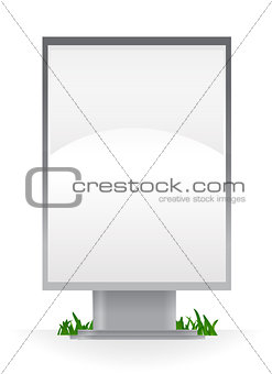 Blank advertising billboard isolated over white background