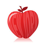 New york apple illustration design over white background