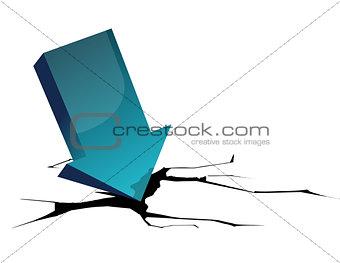 arrow crash - bankruptcy, financial collapse, depression, failur