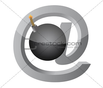 at explosive sign illustration design over white background