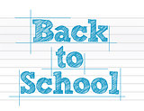 Back to school sign over notepad paper