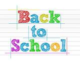 Back to school color illustration design