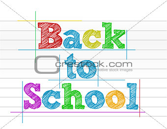 Back to school color illustration design