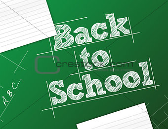 back to school background illustration design