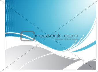 Wave Background in blue and white. Vector File available