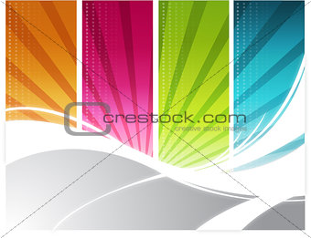 Color rays background