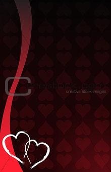 Love hearts card background illustration design.