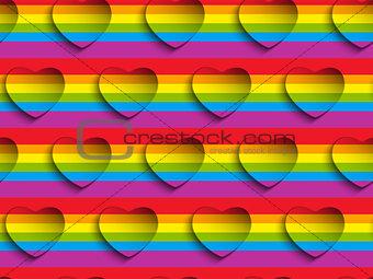 Valentine Day Gay Heart Seamless Pattern Background