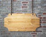 wooden sign hanging