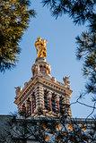 Basilica of Notre-Dame de la Garde in Marseilles, France