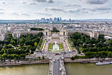 Aerial View on River Seine and Trocadero From the Eiffel Tower,